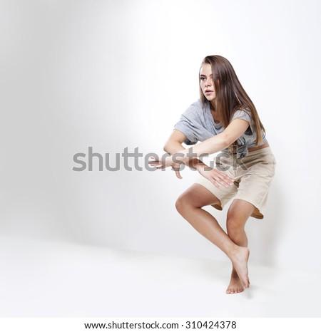 Exercises dance. - stock photo