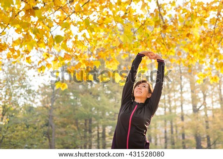 exercising woman. - stock photo