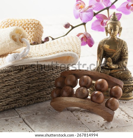 exfoliating bath with zen massage