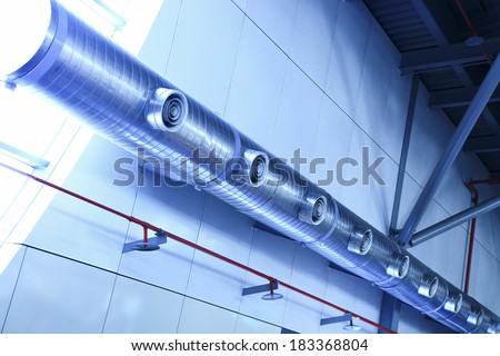 exhaust air duct - stock photo
