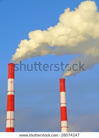 Exhaust gas emissions. pollution of the atmosphere. To see similar images, please VISIT MY GALLERY.