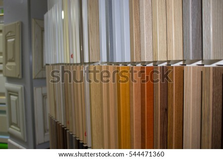 Exhibition chipboard panels