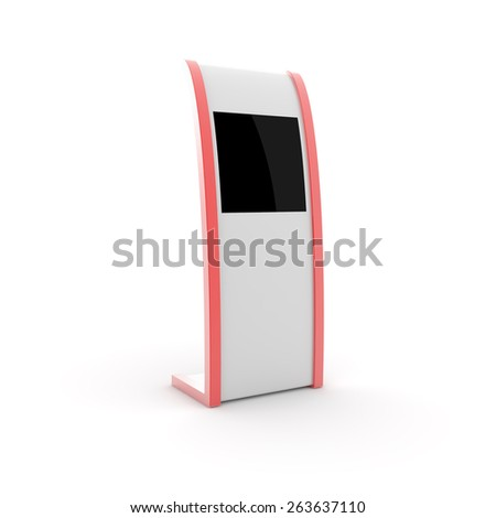 Exhibition equipment, copy space 3d image. - stock photo