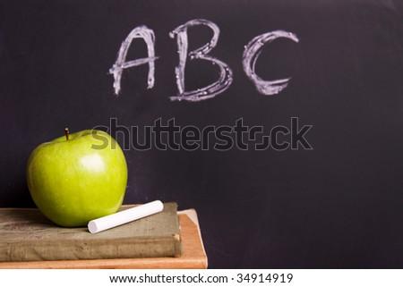 Exhibition of school. Back to school - stock photo