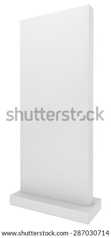 Exhibition stand. 3d render isolated on white background. - stock photo