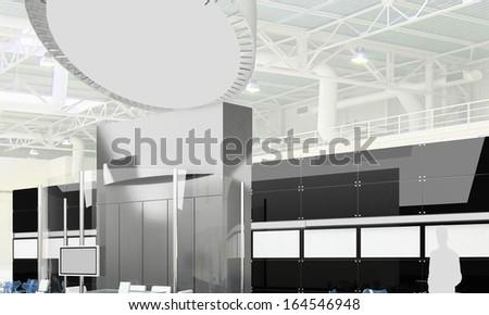 Exhibition Stand Interior - Exterior Sample - stock photo