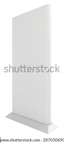 Exhibition stand isolated on white background. 3d render - stock photo