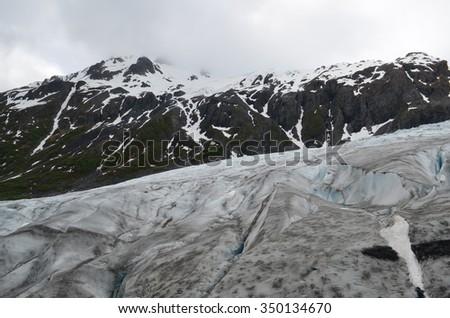 Exit Glacier in Seward, Alaska - stock photo
