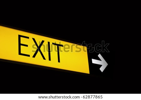 Exit neon sign - stock photo