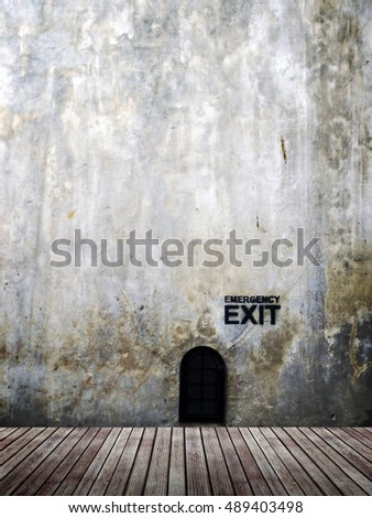 exit room background