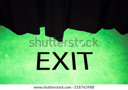 exit text background