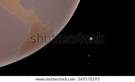 Exoplanet 3D illustration (Elements of this image furnished by NASA)