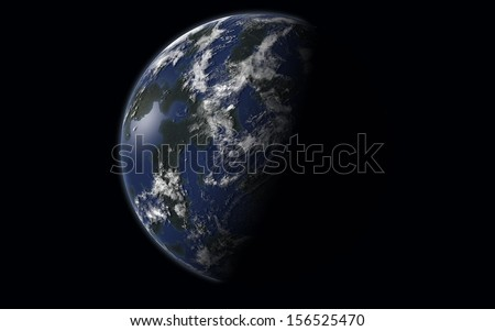 "exoplanet ""Elements of this image furnished by NASA "" - stock photo"