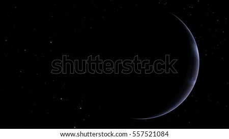 Exoplanet gas giant warm Jupiter (Elements of this image furnished by NASA)
