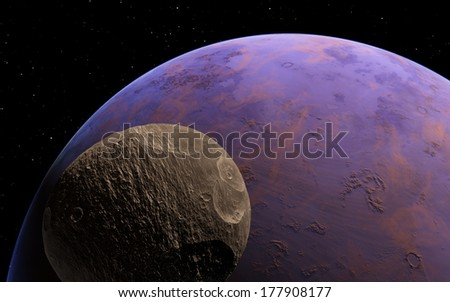 Exoplanet with moon