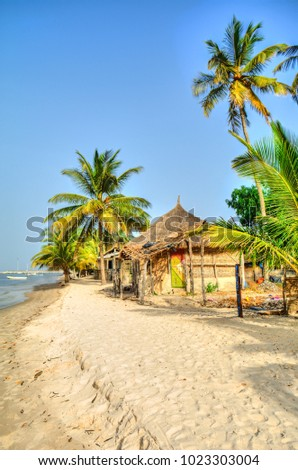 Exotic African bungalow in Carabane island, Senegal