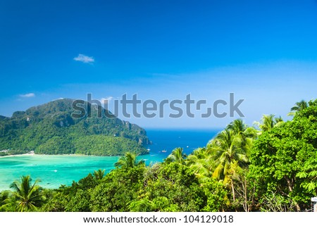 Exotic Backdrop Heaven Seascape - stock photo
