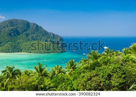 Exotic Backdrop Idyllic Panorama  - stock photo