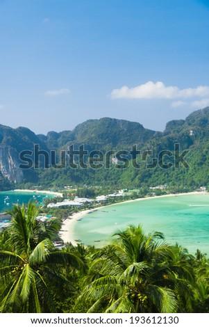 Exotic Backdrop Vacation Wallpaper  - stock photo