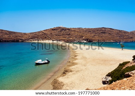 Exotic beach kolona, Kythnos, Greece