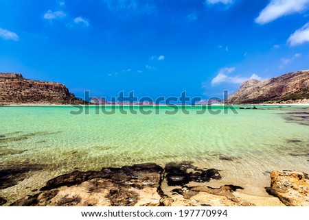 Exotic beach lagoon, Balos, Chania, Crete, Greece