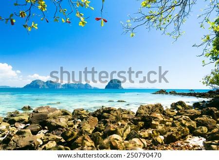 Exotic Beach Romantic Island  - stock photo