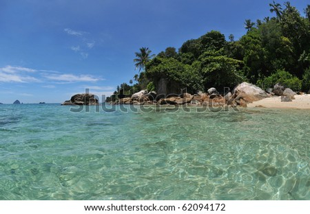 exotic dream beach at the perhentian islands,malaysia.