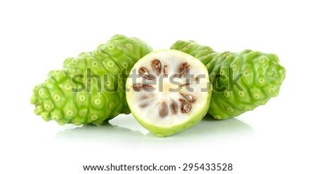 Exotic Fruit - Noni isolated on the white background. - stock photo