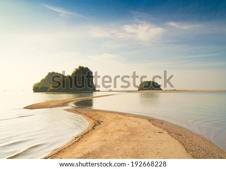 Exotic Getaway Sea Scene  - stock photo