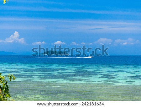 Exotic Getaway Sea Scene  - stock photo