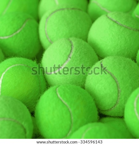 exotic green tennis ball as sport background