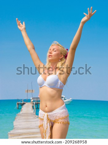 Exotic Hideaway Holiday Relaxation  - stock photo