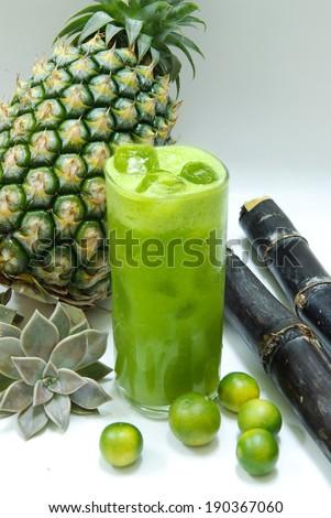 exotic juice - stock photo