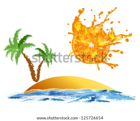 Exotic rest on tropical resort.Abstract  background
