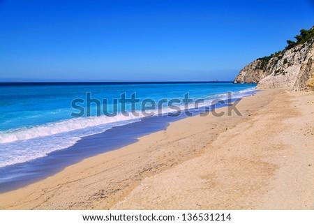 Exotic tropical beach - stock photo