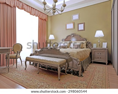 Classic Bedroom Expensive Interior Luxury Stock Images, Royalty ...