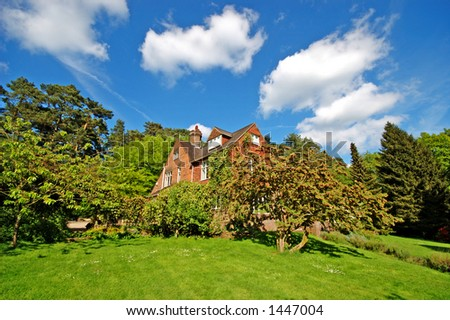 Expensive Country House - stock photo