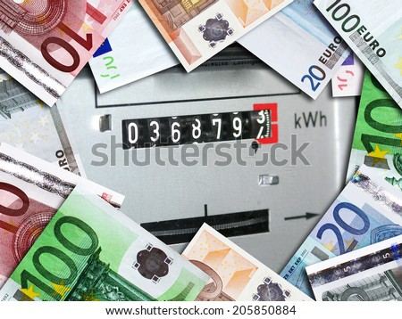 Expensive electricity     - stock photo