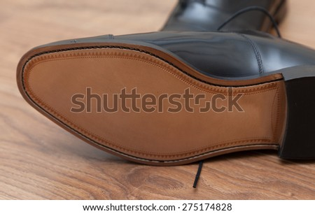 Expensive hand made leather business shoes - stock photo