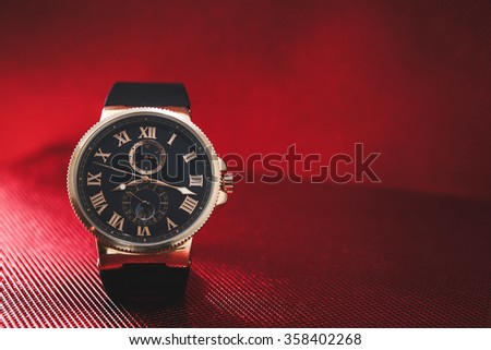 expensive men's watches - stock photo