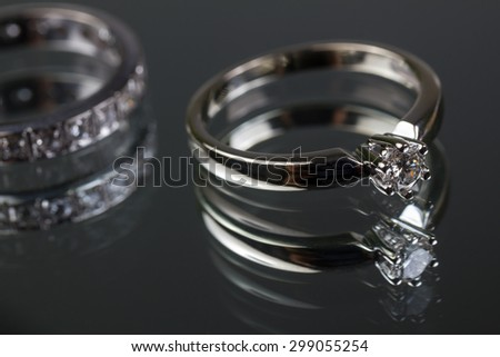 expensive wedding rings - stock photo