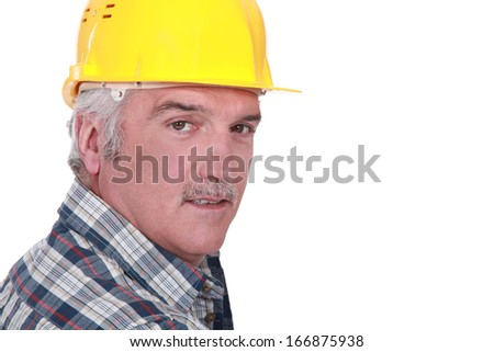 Experienced foreman - stock photo