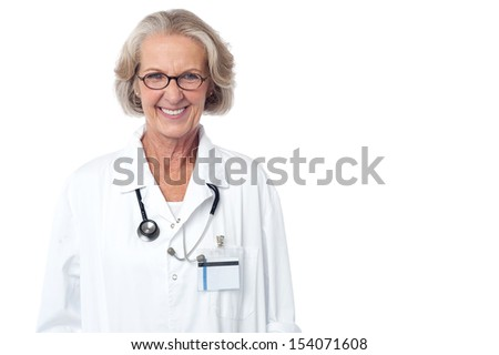 Experienced medical professional with stethoscope - stock photo