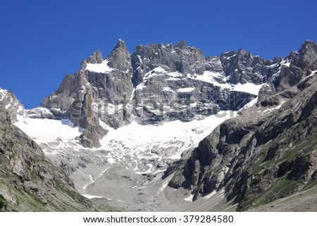 Experiencing the French Alps in Summer - stock photo
