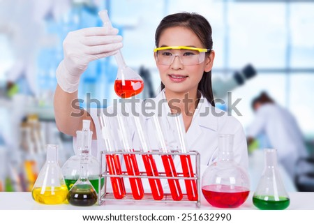 Experiments in the laboratory to study the virus. - stock photo