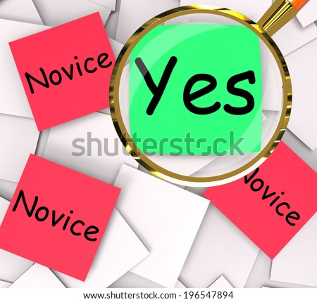 Expert Novice Post-It Papers Meaning Professional Or Learner