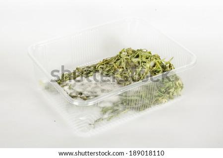 Expiration date rucola salad - stock photo