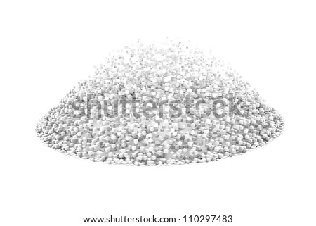 Exploded floor in bullet time isolated on white background