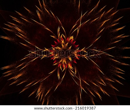 Exploding flames abstract fractal background