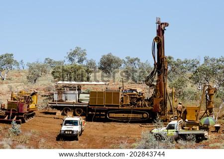 Exploration Drilling  - stock photo